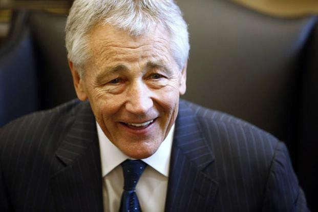 US defence secretary nominee Chuck Hagel's answers to the Senate Armed Services Committee run into 112-page questionnaire, where India does not find any mention. Photo: Jason Reed/Reuters